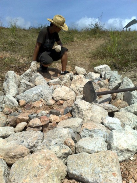 Rock Garden - building in progress