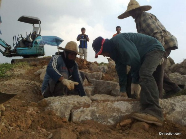 workers at Marbles Rock Garden