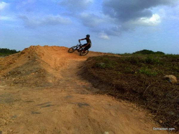 big berm for fast ride, no brakes!