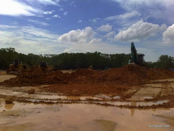 wet ground muddy challenges