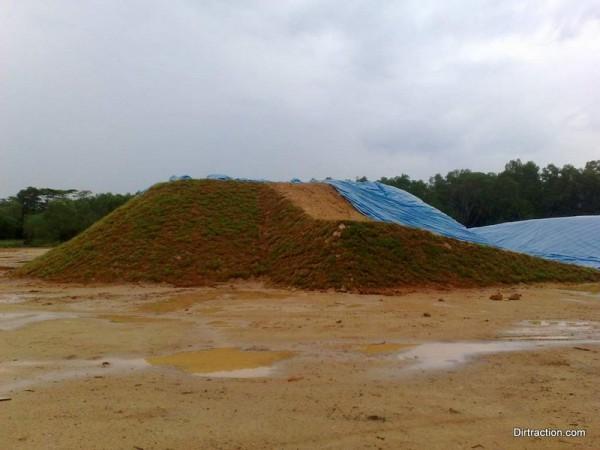 BMX start hill turfed up