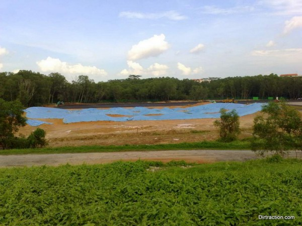 BMX track in the sea of blue