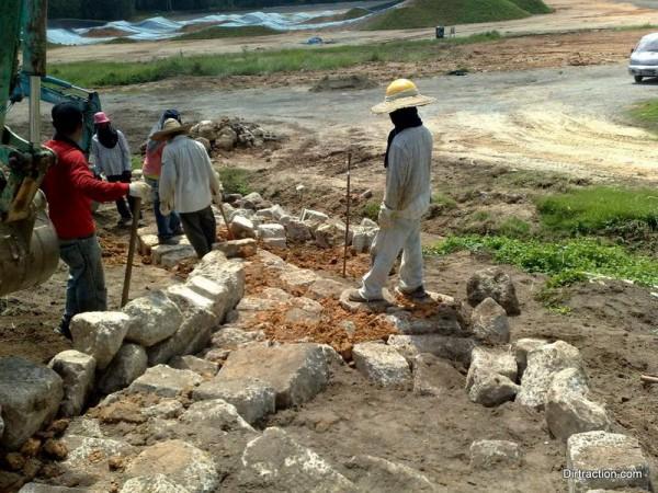 raptor rock garden taking shape