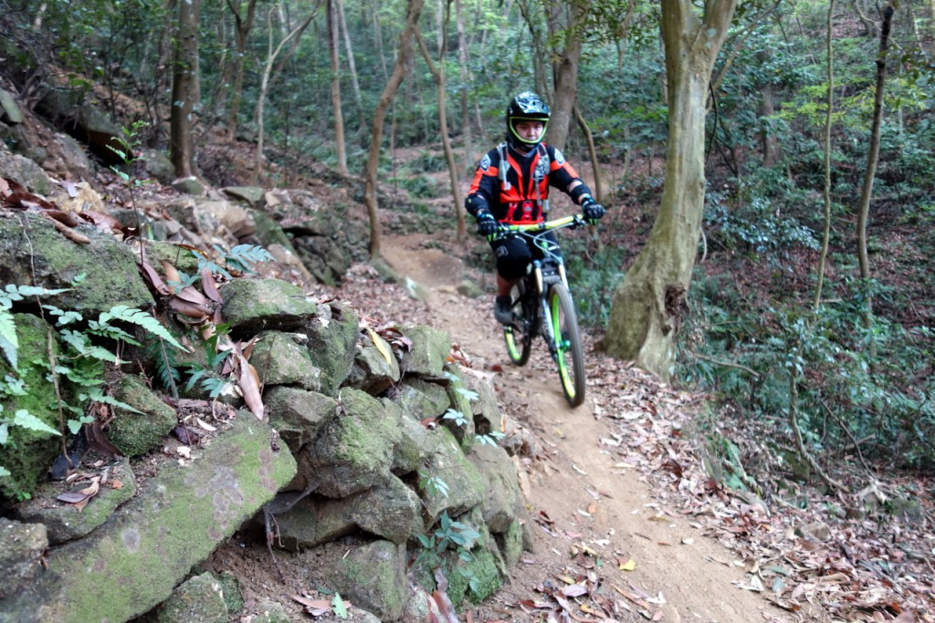 Tight singletrack flow trail put smile through everyone