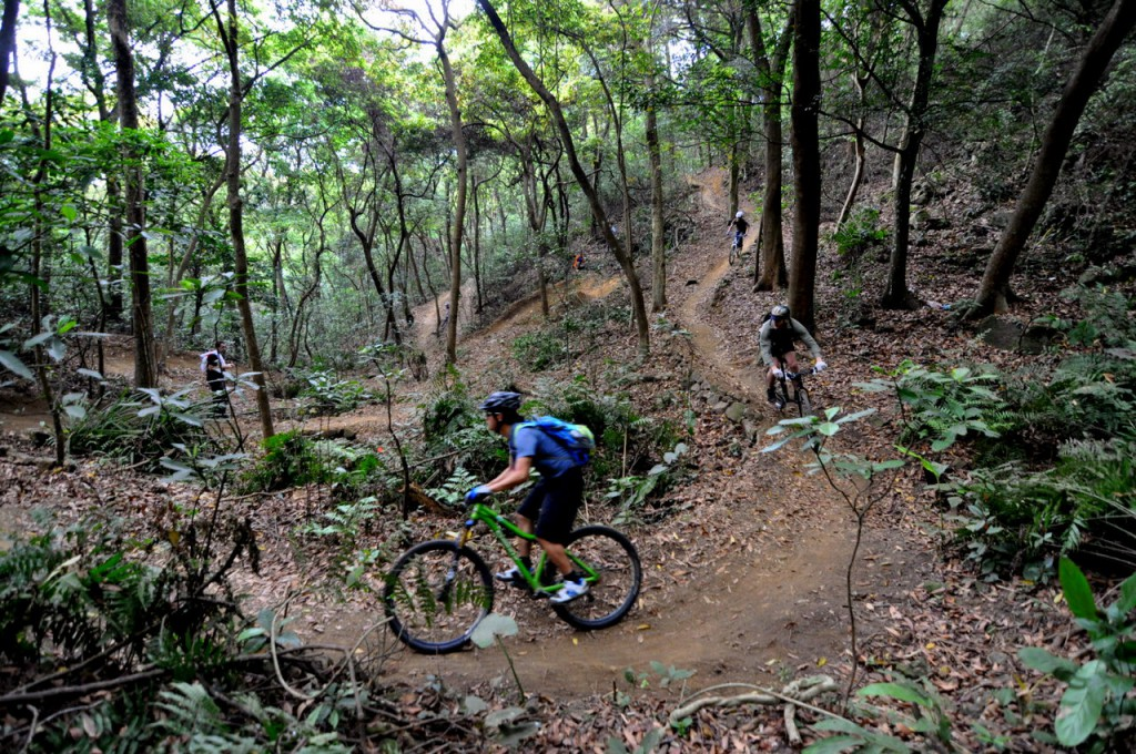 flow trails snaking through the creek, 29 technical features within 1100 metres - Photo by Steve Cowards (http://crosscountry.hk)